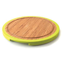 Доска для нарезания круглая, бамбуковая, диам. 25 см