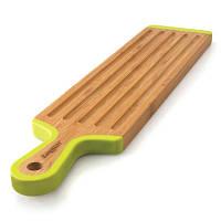 Доска для нарезания длинная, бамбуковая, 43 х 10 см