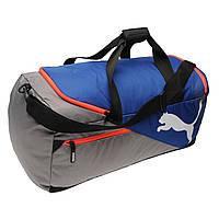 Спортивная сумка Puma Fundamentals Bag Medium Blue 60L Оригинал Синий цвет