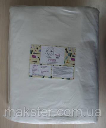 Полотенце одноразовое Panni Mlada, 40см х70см, сетка, белые, 40 г/м2, 100 шт., фото 2