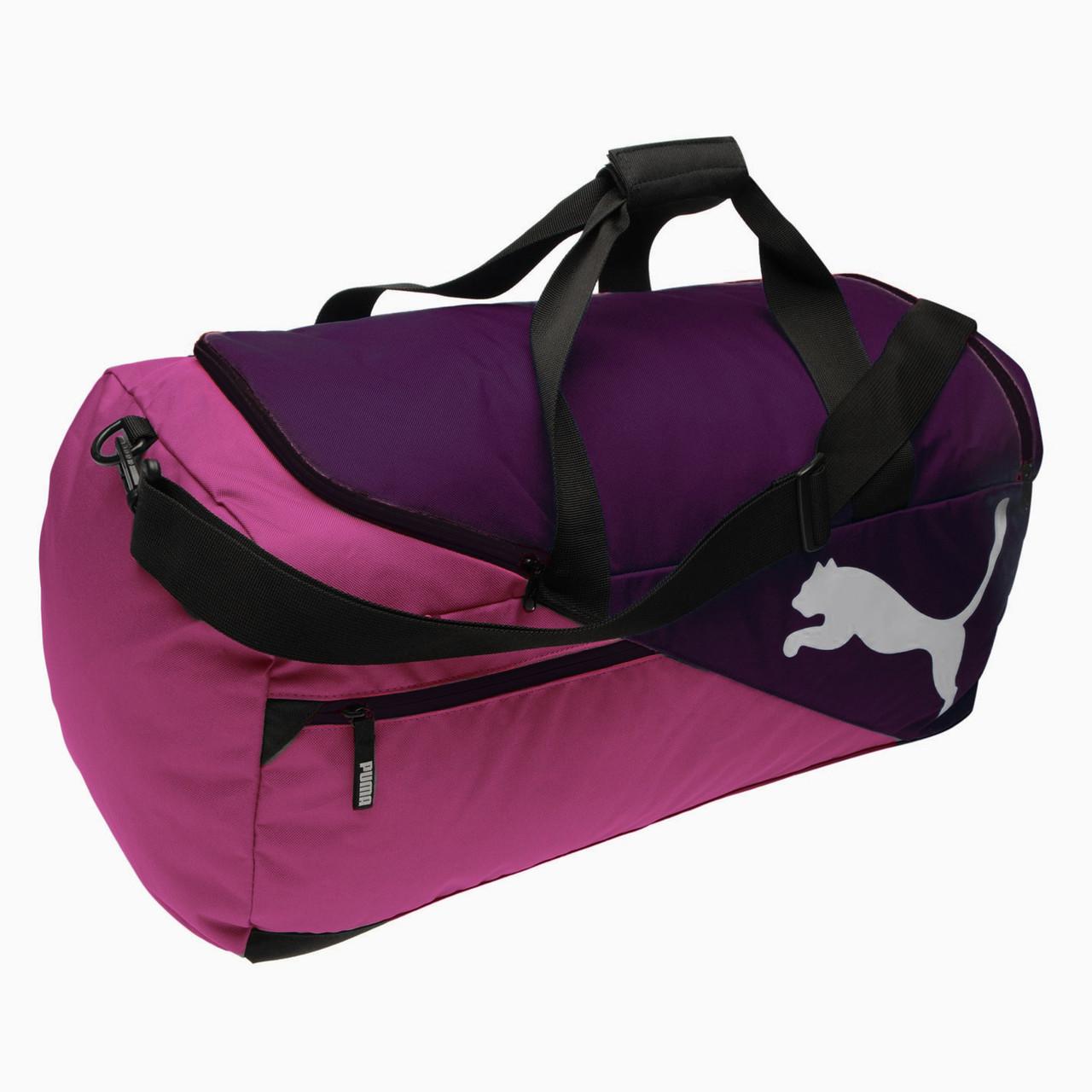627e2a2c45ab Спортивная сумка Puma Fundamentals Medium Bag Magenta Purple 60L Оригинал