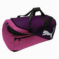 Спортивная сумка Puma Fundamentals Medium Bag Magenta Purple 60L Оригинал