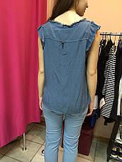 Блуза женская  летняя однотонная  без рукавов Rinascimento , фото 2