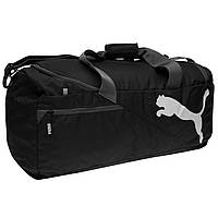Спортивная сумка Puma Fundamentals Medium Bag Black 60L Оригинал Чёрный цвет
