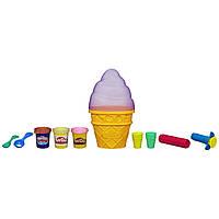 Play-Doh Игровой набор Контейнер с мороженым Sweet Shoppe Ice Cream Cone Container Craft Kit