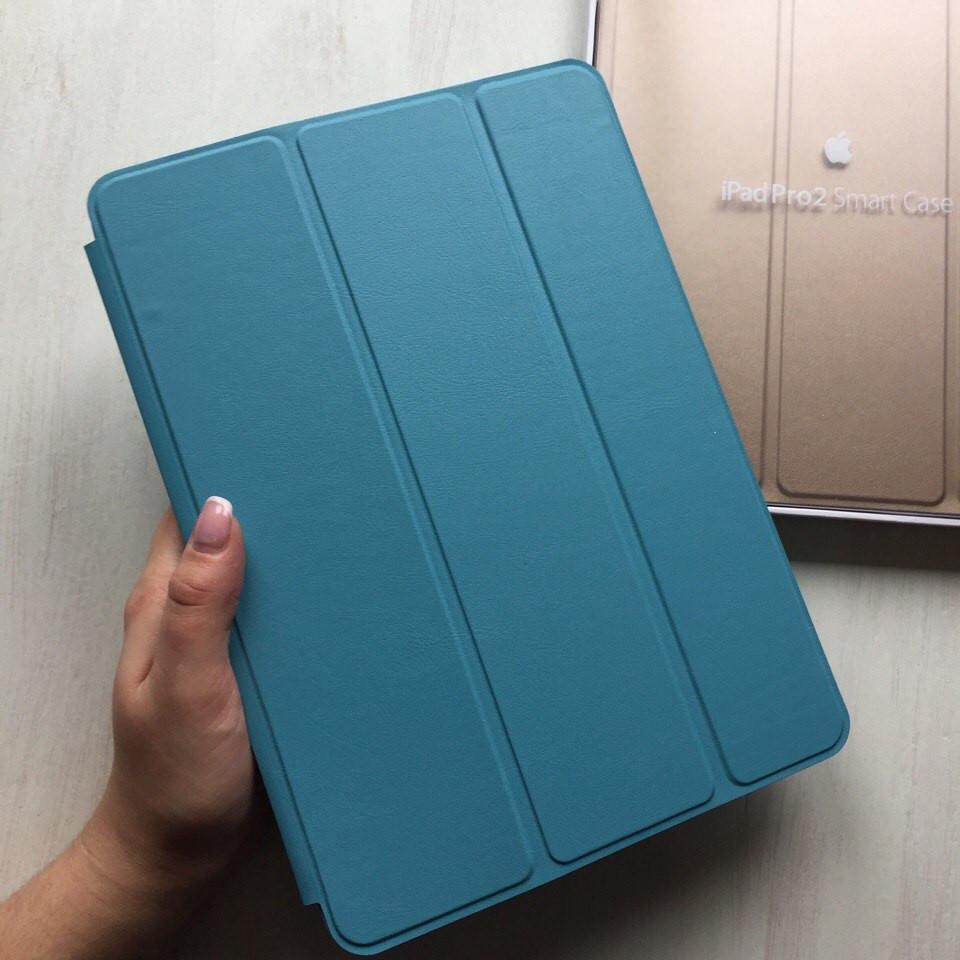 """Кожаный голубой чехол Smart case для iPad Pro 9.7"""""""