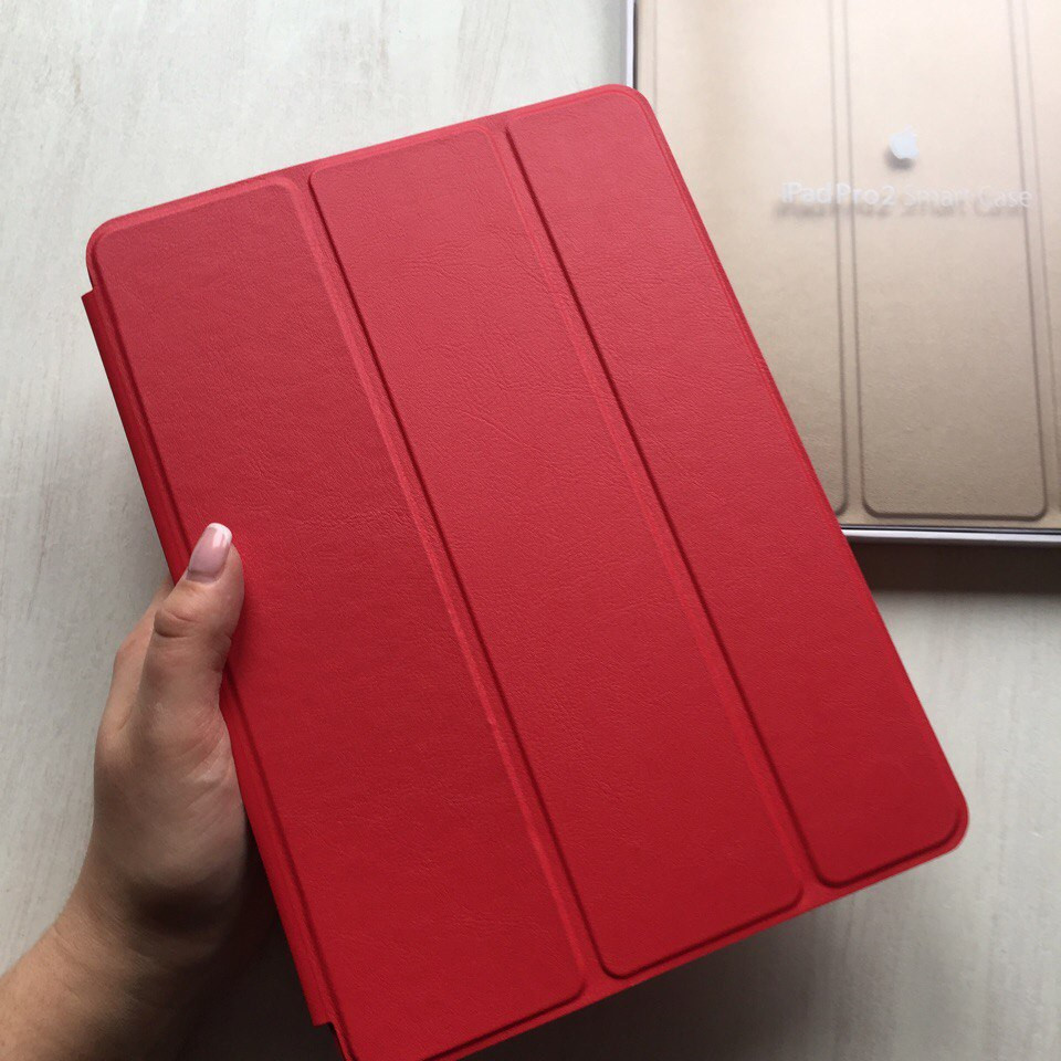 """Кожаный красный чехол Smart case для iPad Pro 9.7"""""""