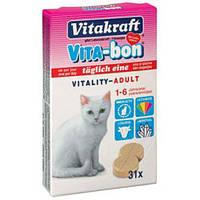 Vitakraft Vita-Bon Vitality Adult Cat Мультивитамины для кошек 31таб (24033)