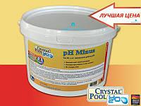 Для понижения уровня pH воды Crystal Pool pH Minus 15 кг.