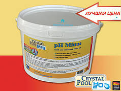 Для понижения уровня pH воды Crystal Pool pH Minus 1кг.