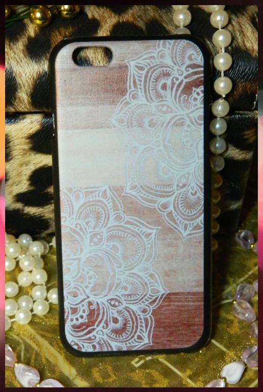 """Чехол для Apple iPhone 6 и iPhone 6s рисунок дерево с узором """"белые цветы"""""""