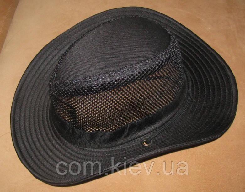Летняя шляпа с широкими полями (черная)
