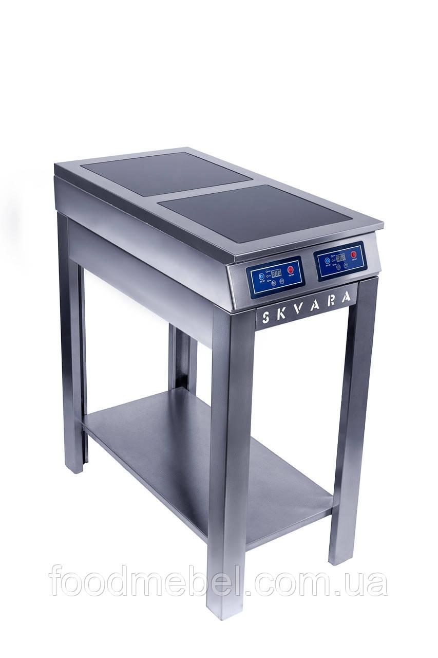 Плита индукционная напольная SKVARA Sif 2.6 (2х3кВт) профессиональная для ресторана