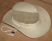 Летняя шляпа с широкими полями (бежевая)