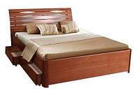 """Кровать деревянная с бельевыми ящиками """"Мария Люкс"""""""