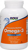 Omega-3 NOW, 500 капсул