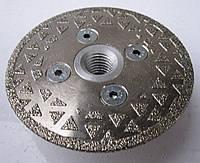 Алмазный диск на фланце для резки и шлифовки мрамора одна сторонний 81x2,8x16,0x22/M14F