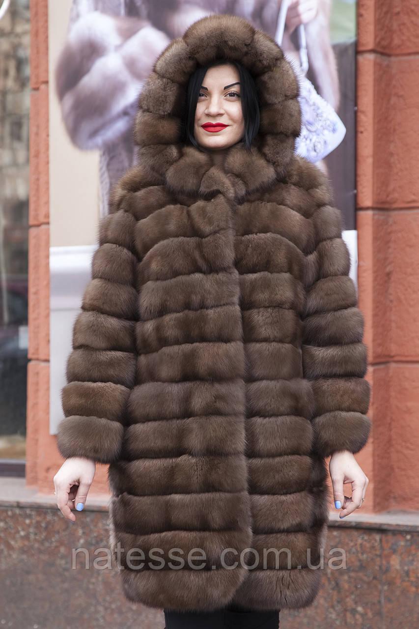 """Шуба из российского соболя цвета Тортора """"Миранда"""" sable jacket fur coat"""