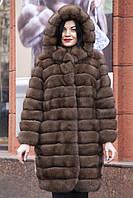 """Шуба из российского соболя цвета Тортора """"Миранда"""" sable jacket fur coat , фото 1"""
