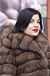 """Шуба из российского соболя цвета Тортора """"Миранда"""" sable jacket fur coat , фото 5"""