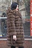 """Шуба из российского соболя цвета Тортора """"Миранда"""" sable jacket fur coat , фото 6"""