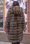 """Шуба из российского соболя цвета Тортора """"Миранда"""" sable jacket fur coat , фото 7"""