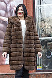 """Шуба из российского соболя цвета Тортора """"Миранда"""" sable jacket fur coat , фото 8"""