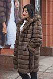 """Шуба из российского соболя цвета Тортора """"Миранда"""" sable jacket fur coat , фото 2"""