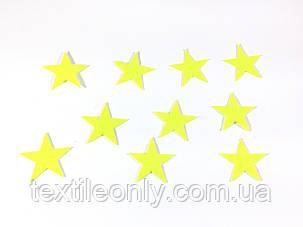 Нашивка звездочка цвет салатовый big, фото 2