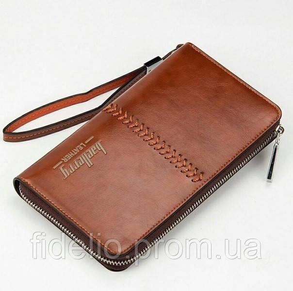 Мужской клатч Baellerry Leather, коричневый