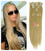 Волосы трессы ТЕРМо на заколках набор из 6 прядей 65 см №27\613