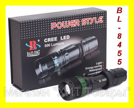Тактический фонарик Police BL-8455 99000W с линзой, фото 2