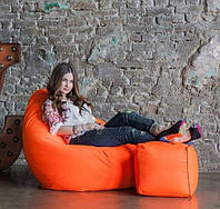 Кресло-мешок груша и пуфик из ткани Оксфорд