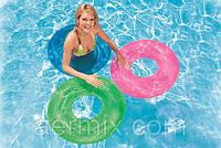 Круг надувной Intex 59260 76см, прозрачный надувной круг 3 цвета, надувной круг для плавания intex