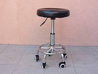 Стул для мастера маникюра и педикюра без спинки (черный)