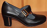 Женские туфли стильные на высоком каблуке, кожаные женские туфли от производителя модель СТТ12