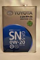 Масло моторное для бензинового двигателя TOYOTA SN/GF-5 0W-20, 4л.
