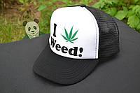Кепка Женская  I love Weed! (есть много цветов в наличии!)