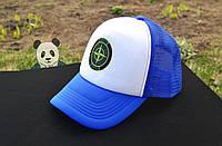 Синяя кепка тракер Stone Island / мужская бейсболка