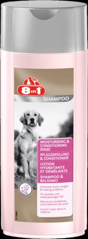 Кондиционер-ополаскиватель увлажняющий для собак. 8 in 1