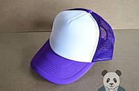 Пустая кепка фиолетовая    тракер    бейсболка   со своим принтом    логотип свой