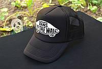 Vans кепка черная летняя / бейсболка Ванс мужская