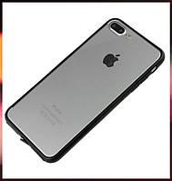 Чехол акриловый для Apple iPhone 7 Plus прозрачный с ободком черного цвета