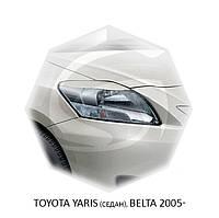 Реснички на фары Toyota YARIS (седан), BELTA 2005- г.в.Тойота Ярис