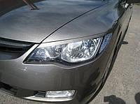 Реснички на фары Honda Civic 2006-2011 г.в. Хонда Сивик