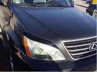 Реснички на фары узкие Lexus GX 470  Лексус 470