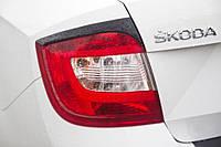 Реснички на задние фонари Skoda Rapid 2012+ г.в. Шкода Рапид