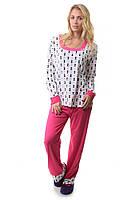 Пижама брюки кофта с длинным рукавом Памук Night Angel