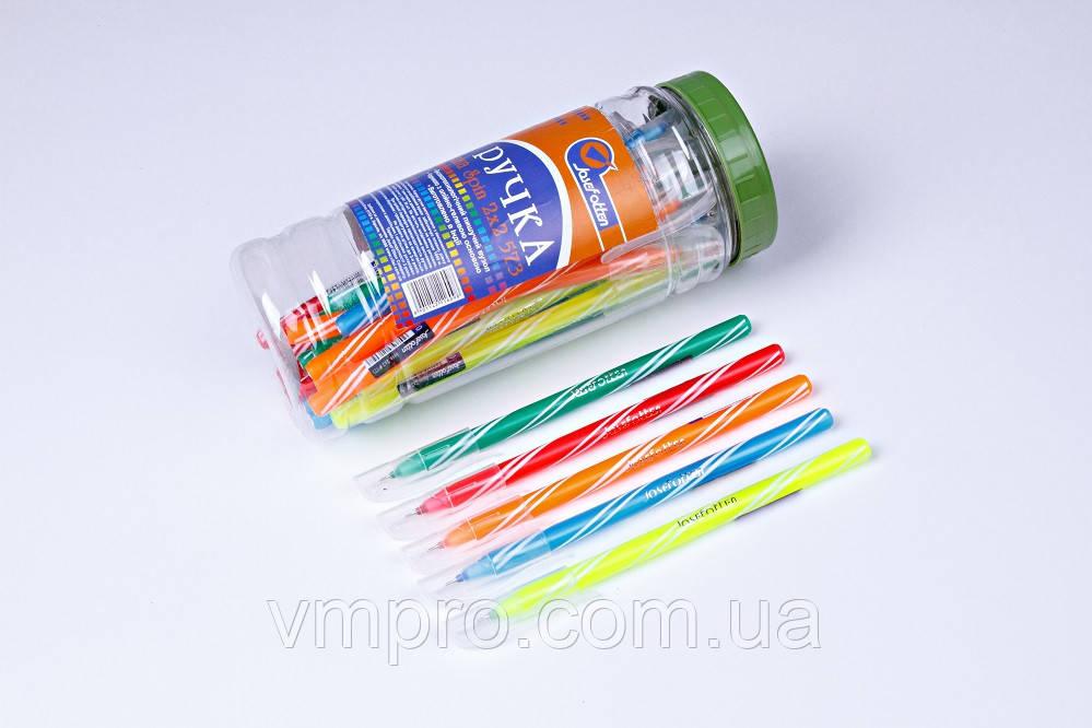 """Ручки шариковые Josef Otten """"Spin 2×2"""" №573,синие,0.6 mm,30 шт/банке"""