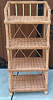 Полку плетена етажерка натуральна, фото 1